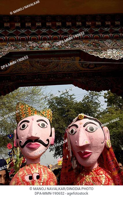 puppet couple Surajkund mela Haryana India Asia