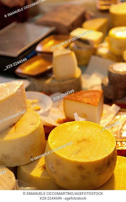 Cheese at rural fair, Eivissa, Ibiza, Balearic Islands, Spain, Mediterranean, Europe
