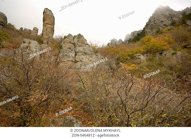 Ghost valley near Demerdji mountain in Crimea Ukraine