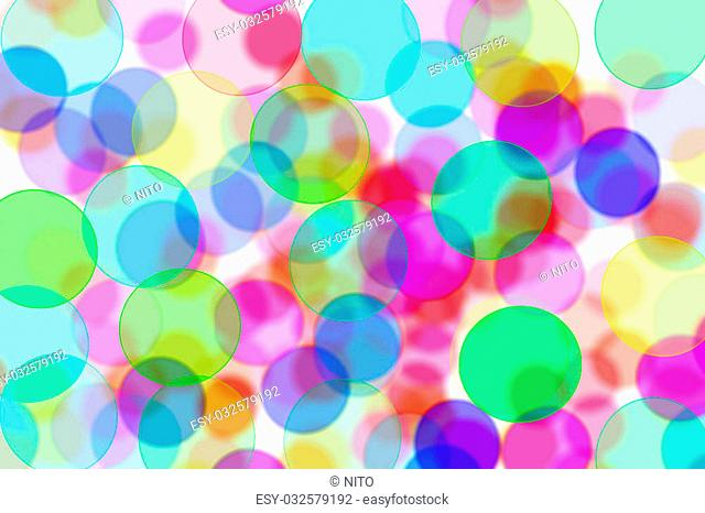 circles of different colors drawn on a white background