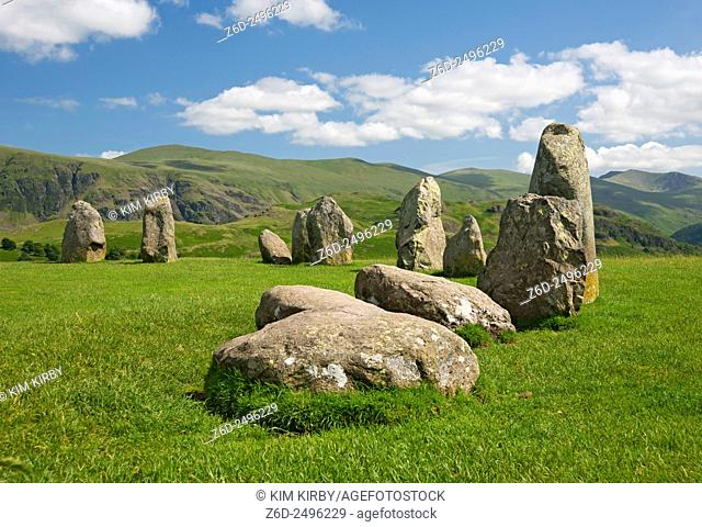 Castlerigg stone circle near Keswick Cumbria England UK United Kingdom GB Great Britain