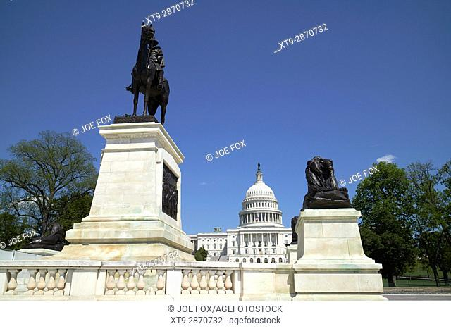 the ulysses s grant memorial in front of the United States Capitol building Washington DC USA