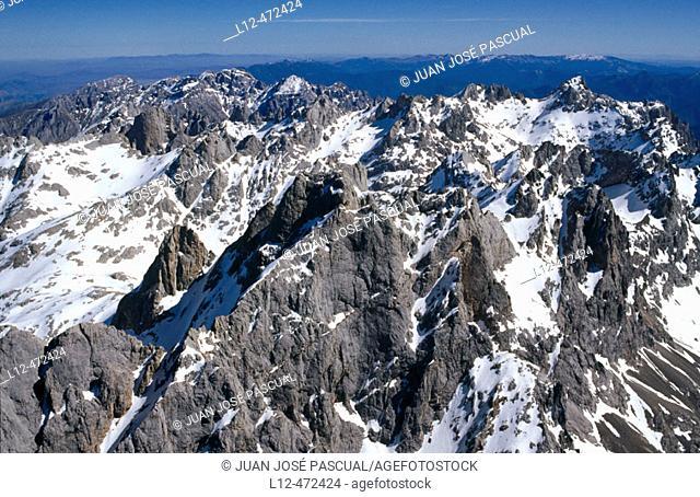 Aerial view on Picos de Europa. Cantabria, Spain