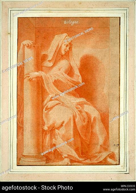 """Fortitude (Study for the """"""""Cabinet du roi"""""""" [King's Study]) - 1541/45 - Francesco Primaticcio Italian, 1504-1570 - Artist: Francesco Primaticcio, Origin: Italy"""