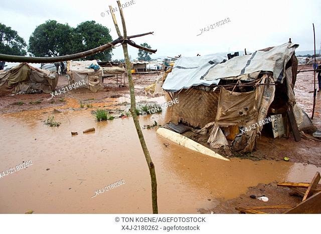Displaced christians have taken refuge in Mpoko airport, CAR