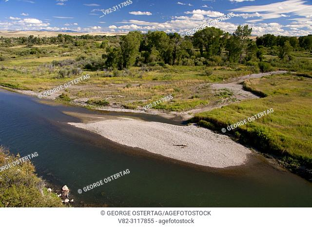 Gallatin River from Fort Rock Trail, Missouri Headwaters State Park, Montana