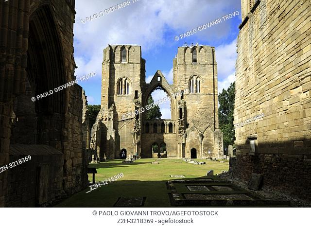 Ruins of Elgin Cathedral, Elgin, Moray, Grampian, Scotland, Highlands, United Kingdom