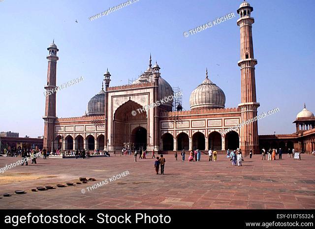 Jama Masjid (Freitags Moschee) in Delhi