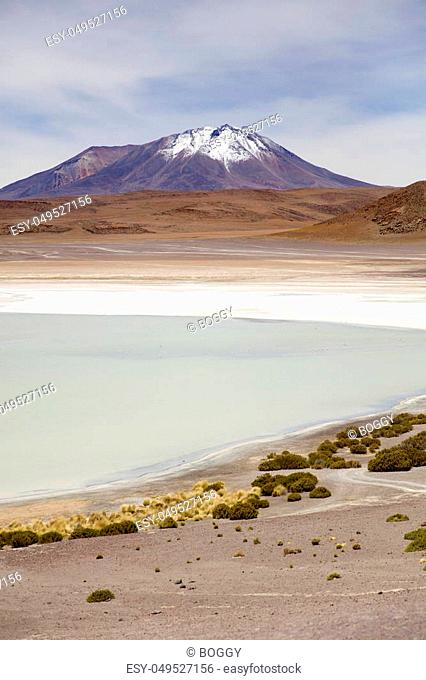 Laguna Hedionda at Eduardo Avaroa Andean Fauna National Reserve in Bolivia