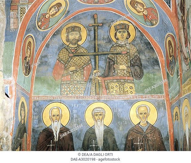Cyprus - Troodos Mountains. Bizantine Church of Panayia tis Asinou (UNESCO's World Heritage Site, 1985, 2001). 12th century