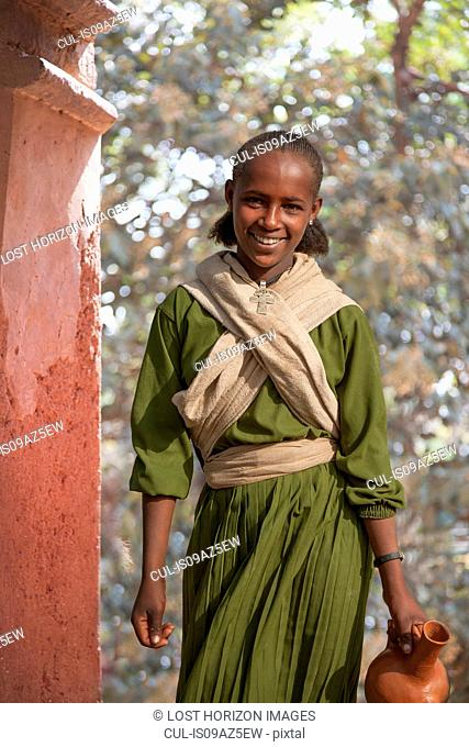 Young girl during the Timkat Festival, Lalibela, Ethiopia
