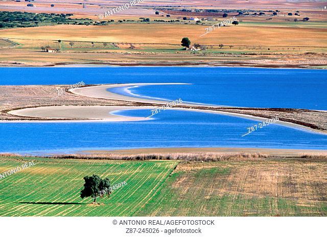 Laguna de Pétrola. Albacete province. Spain
