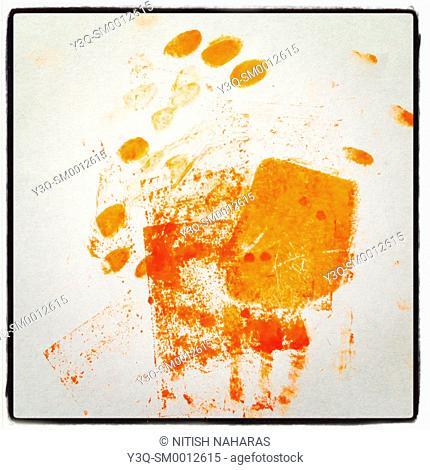 Little prints - handprints of a little girl