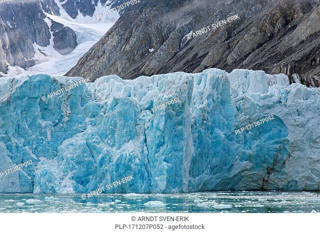 Waggonwaybreen, glacier in Albert I Land at Spitsbergen / Svalbard calving into Magdalenefjorden, Norway