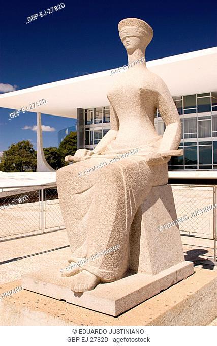 Statue of the Justice, Alfredo Ceschiatti, Federal Supreme court, Distrito Federal, Brasília, Brazil