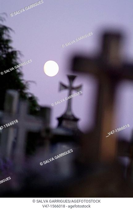 Cemetery Cambados, Cambados, Pontevedra, Galicia, Spain