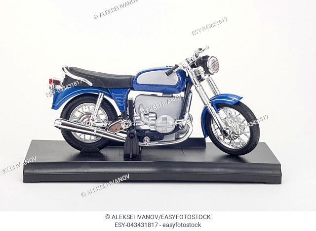 Motorcycle figure on white background