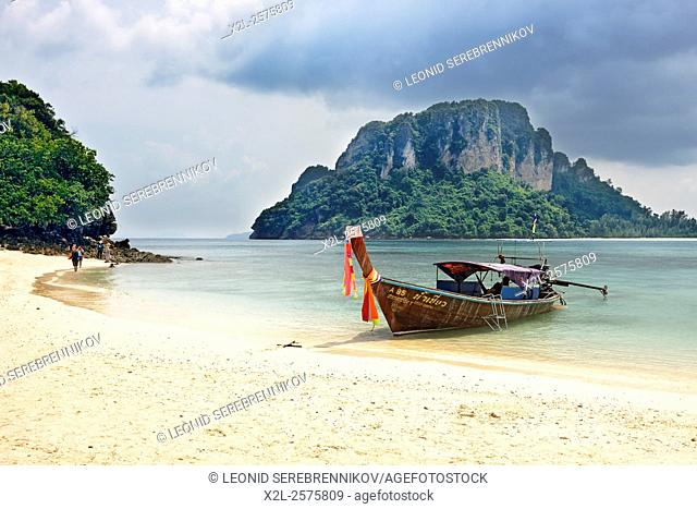 Beach on Tup Island (also known as Tub Island, Koh Tap or Koh Thap). Krabi Province, Thailand