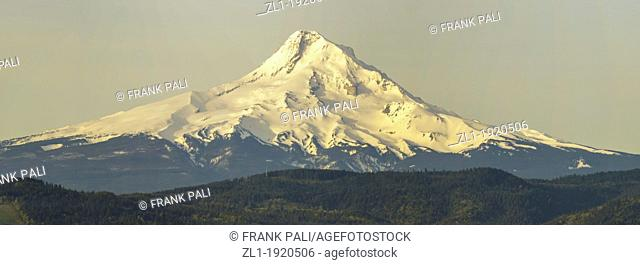 Taken from Hood river view point  Early morning as the sun is just shining on the mountain