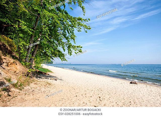 Sandy Beach at Baltic Sea in Gdynia