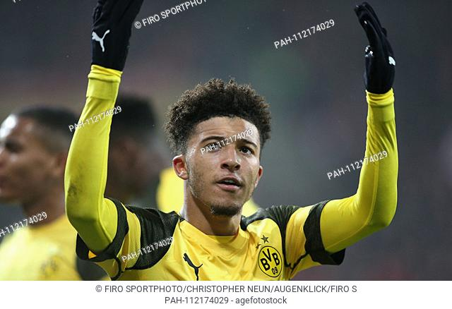 firo: 24.11.2018, football, 1.Bundesliga, season 2018/2019, FSV FSV FSV Mainz 05 - Borussia Dortmund, goaljubel, jubilation, joy, Jadon SANCHO