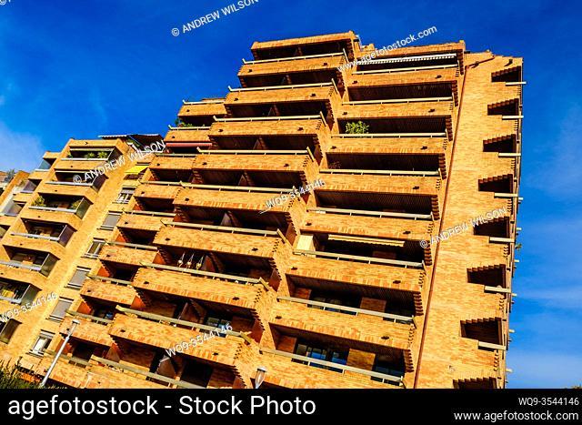 Modern housing in the Boulevard de Strasbourg, Toulouse, France