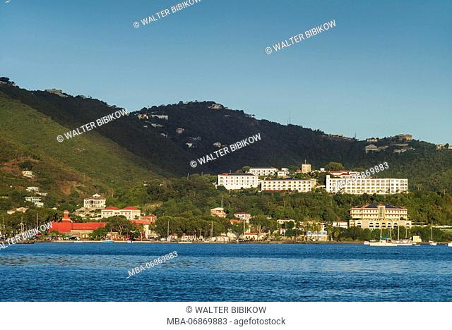 U.S. Virgin Islands, St. Thomas, Charlotte Amalie, Fort Christian and Bluebeards Castle Hotel