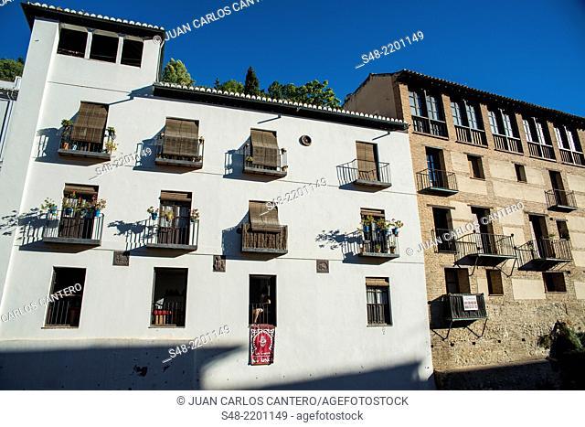 Paseo de Los Tristes. Granada. Andalucia. Spain. Europe
