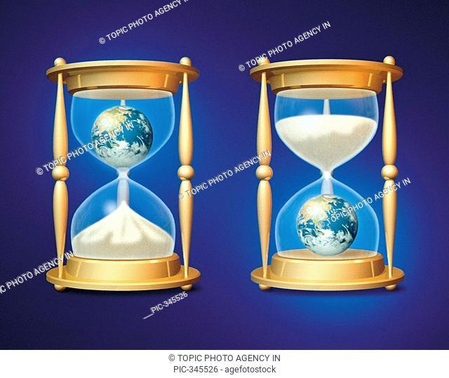 Globes In Hourglasses