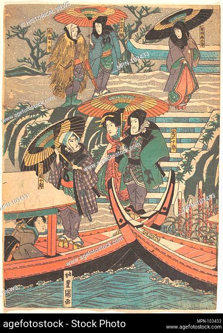 Print. Artist: Utagawa Kunisada (Japanese, 1786-1865); Period: Edo period (1615-1868); Date: 19th century; Culture: Japan; Medium: Polychrome woodblock print;...