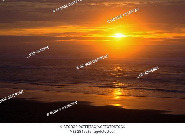 Sunset at Horsfall Beach, Oregon Dunes National Recreation Area, Oregon