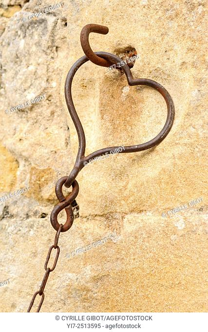 Heart shaped chain link, Indre et Loire, France