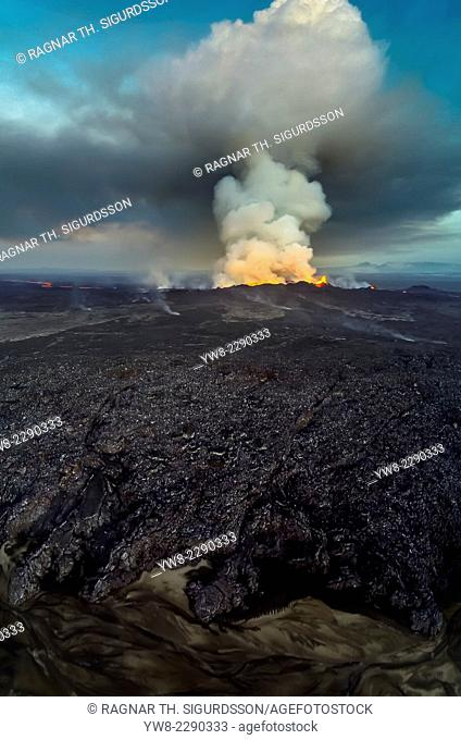 Lava and Plumes. Using a DJI Phantom 2 Drone with a GoPro to document the Eruption. August 29, 2014, a fissure eruption occurred in Holuhraun at the northern...