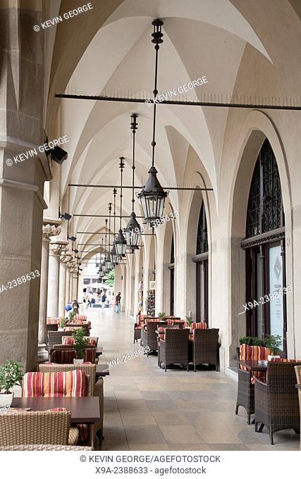 Archway of Cloth Hall; Krakow; Poland