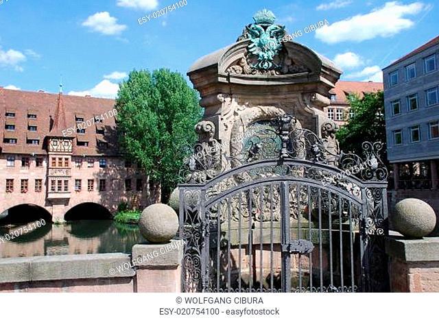 Nürnberg Heilig Geist Spital Museumsbrücke Pegnitz