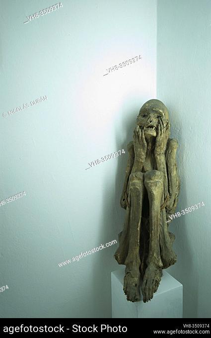 Inca mummy. Huaraz Archaeological Museum. Ancash, Peru