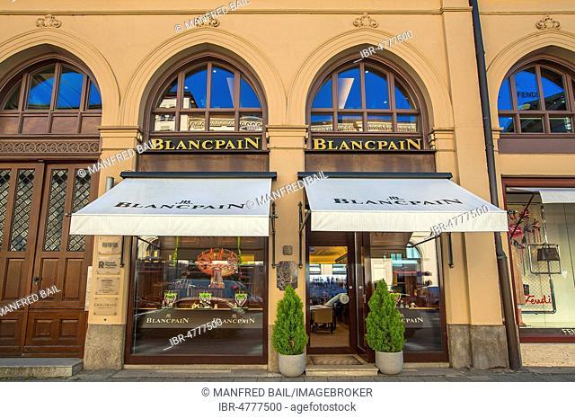 Blancpain Boutique, Maximilianstrasse, Munich, Upper Bavaria, Bavaria, Germany