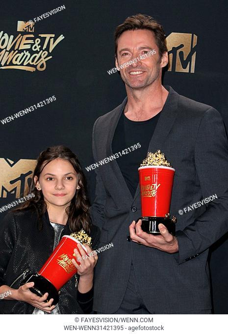 2017 MTV Movie And TV Awards-Press Room Featuring: Hugh Jackman, Dafne Keen Where: Pasadena, California, United States When: 07 May 2017 Credit:...