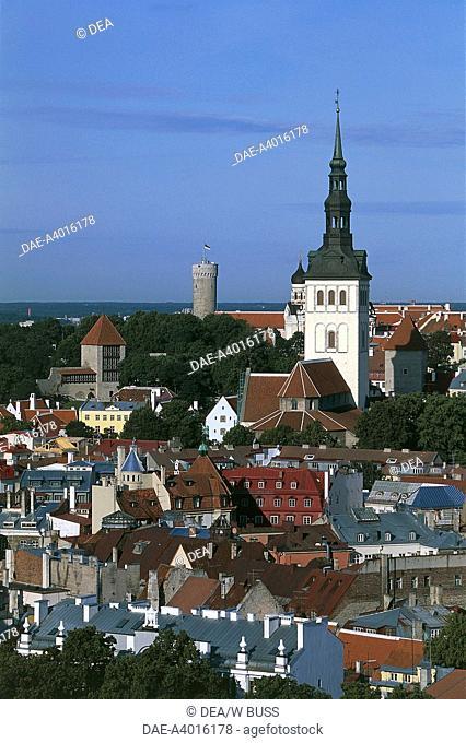 Estonia - Historic Centre (Old Town) of Tallinn (Vanalinn). UNESCO World Heritage List, 1997. St. Nicholas' Church and Toompea Hill