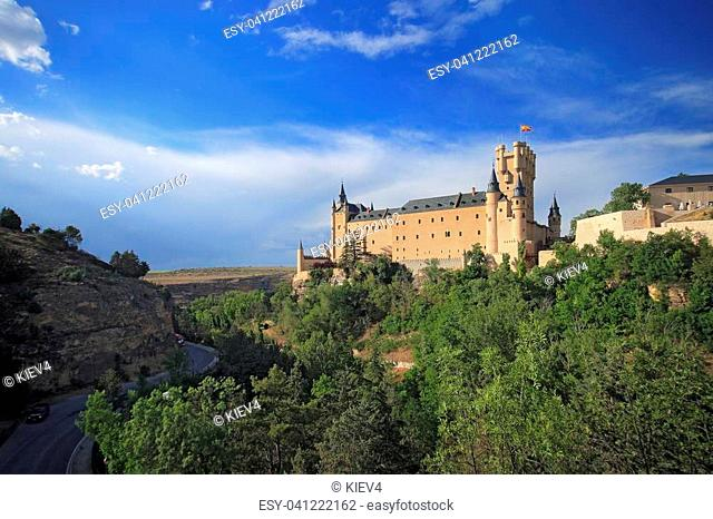 Segovia, Spain. The Alcazar of Segovia. Castilla y Leon