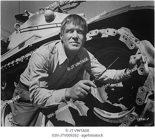 George Peppard, on-set of the Film,Tobruk, Universal Pictures, 1967