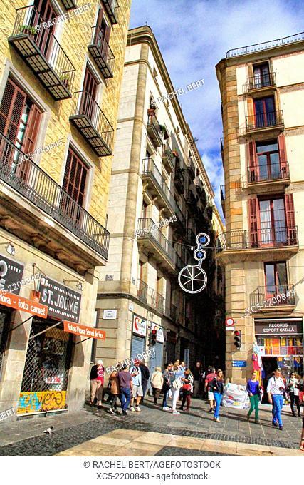 Sant Jaume Square, Barcelona, Catalonia