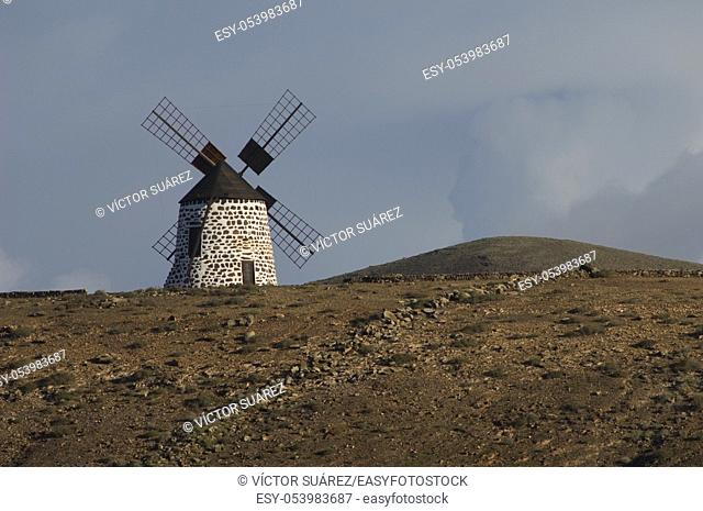 Windmill. La Oliva. Fuerteventura. Canary Islands. Spain