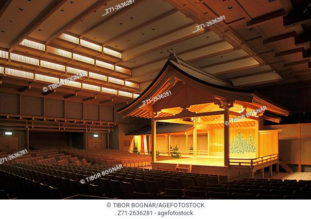 Japan, Nagoya, Noh Theater, interior, stage,