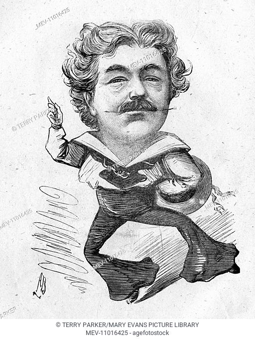 Caricature of William Rignold (1836-1904), English actor. He came from a family of actors and often performed with his brother, George Rignold