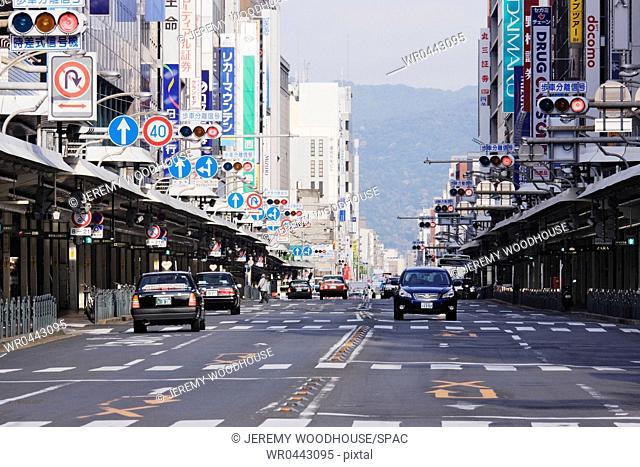 Downtown Street in Japan