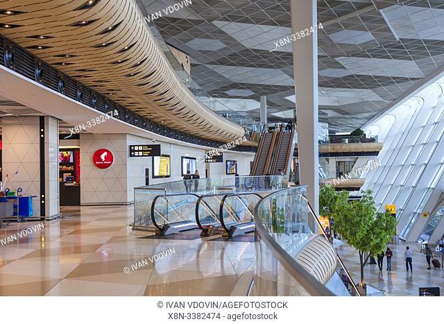 Heydar Aliyev International airport interior, Baku, Azerbaijan