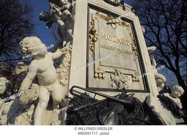 Mozart monument in the Viennese castle garden