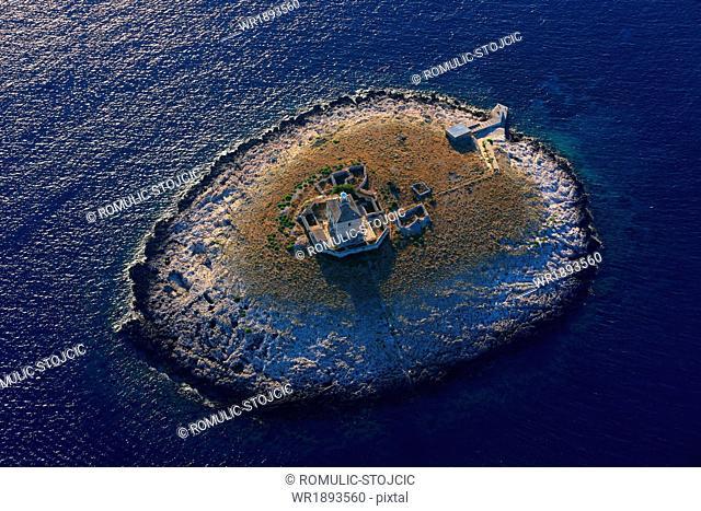 Lighthouse, Pakleni Islands, Adriatic Sea, Dalmatia, Croatia
