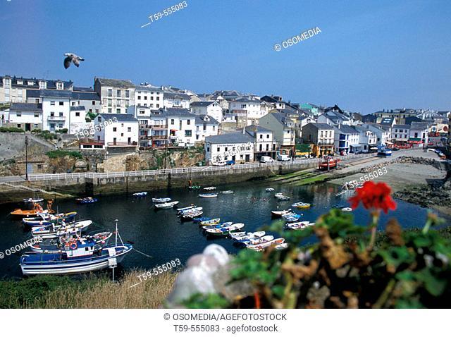 Tapia de Casariego at spanish Coast in Asturias, Spain